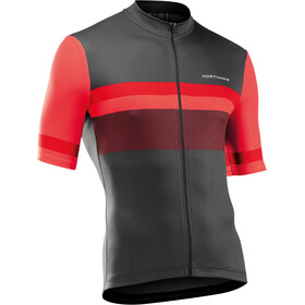 Northwave Origin Short Sleeve Jersey Men, anthracite/red